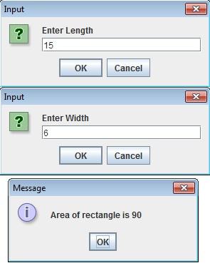 Input Outut using Dialog Box   JOptionPane