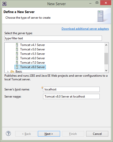 Setup and Install Apache Tomcat Server in Eclipse